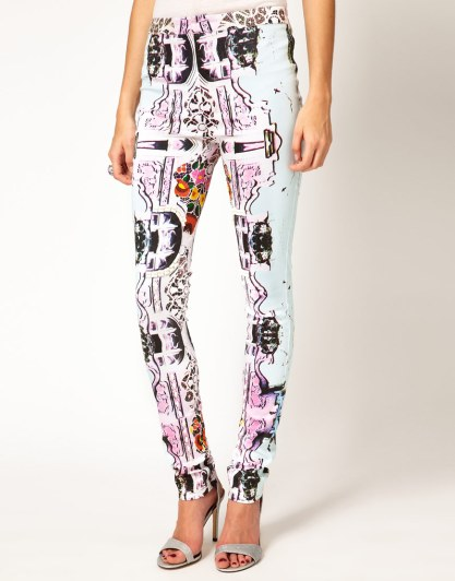 Alice McCall Printed and Beaded Trousers
