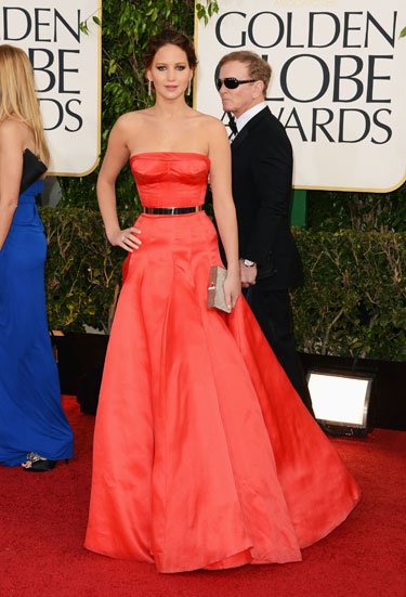 Jennifer Lawrence in Dior Couture by Raf Simons
