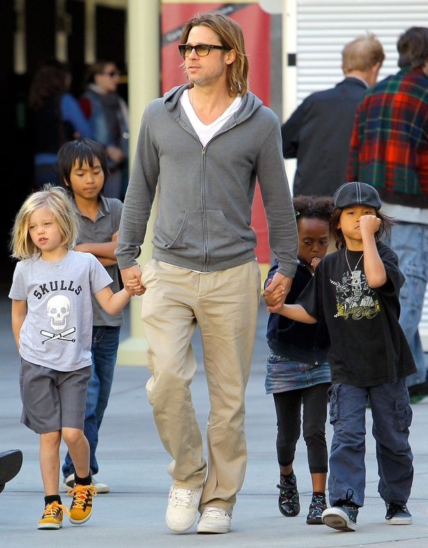 Brad+Pitt+takes+the+kids+to+the+movies
