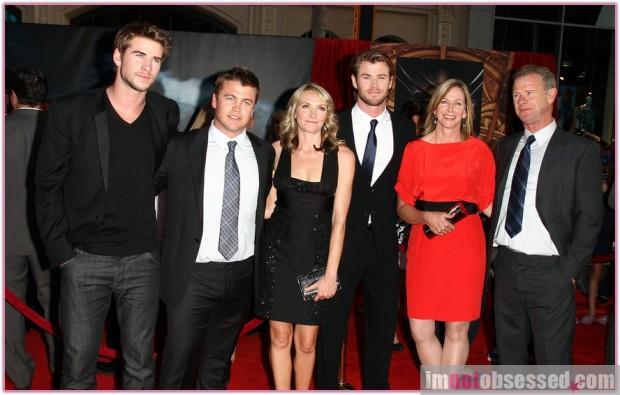 A Thor Los Angeles-i premierjén családja körében