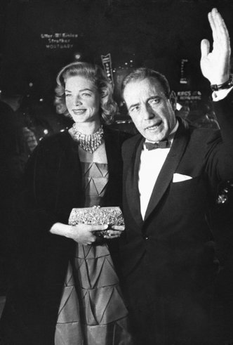 Humphrey Bogart and his wife Lauren Bacall